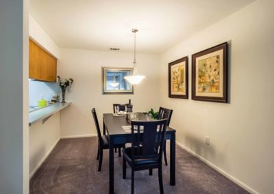 Dining room with table and chairs in Macungie, PA apartment