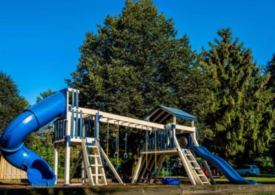 Community playground with jungle gym in Macungie, PA at Brookfield apartments