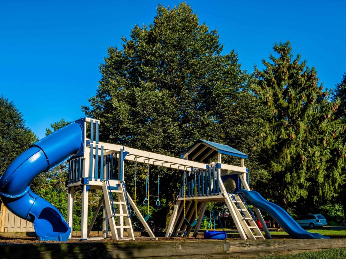 Child-friendly playground for residents on Brookfield apartment grounds in Macungie